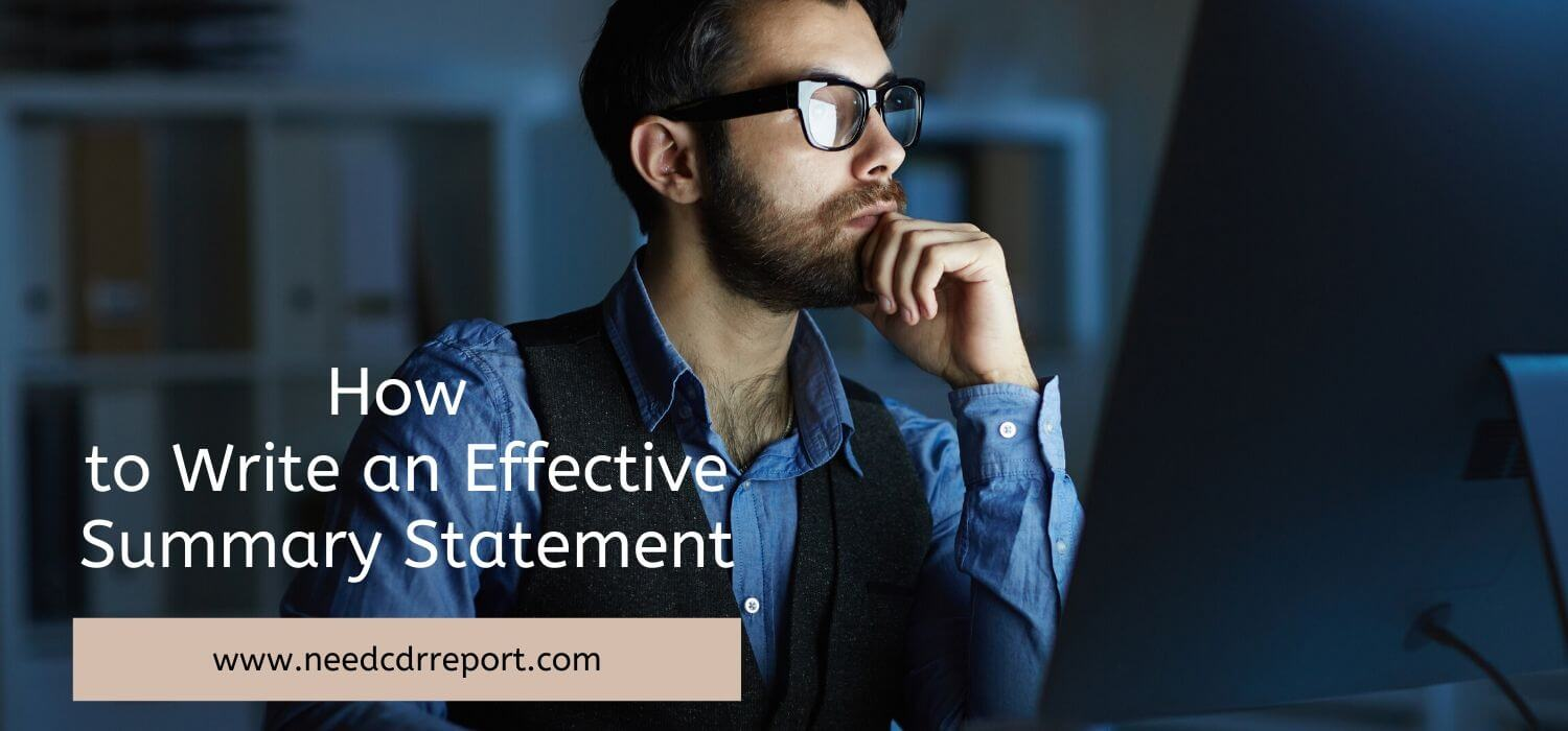How to Write an Effective Summary Statement