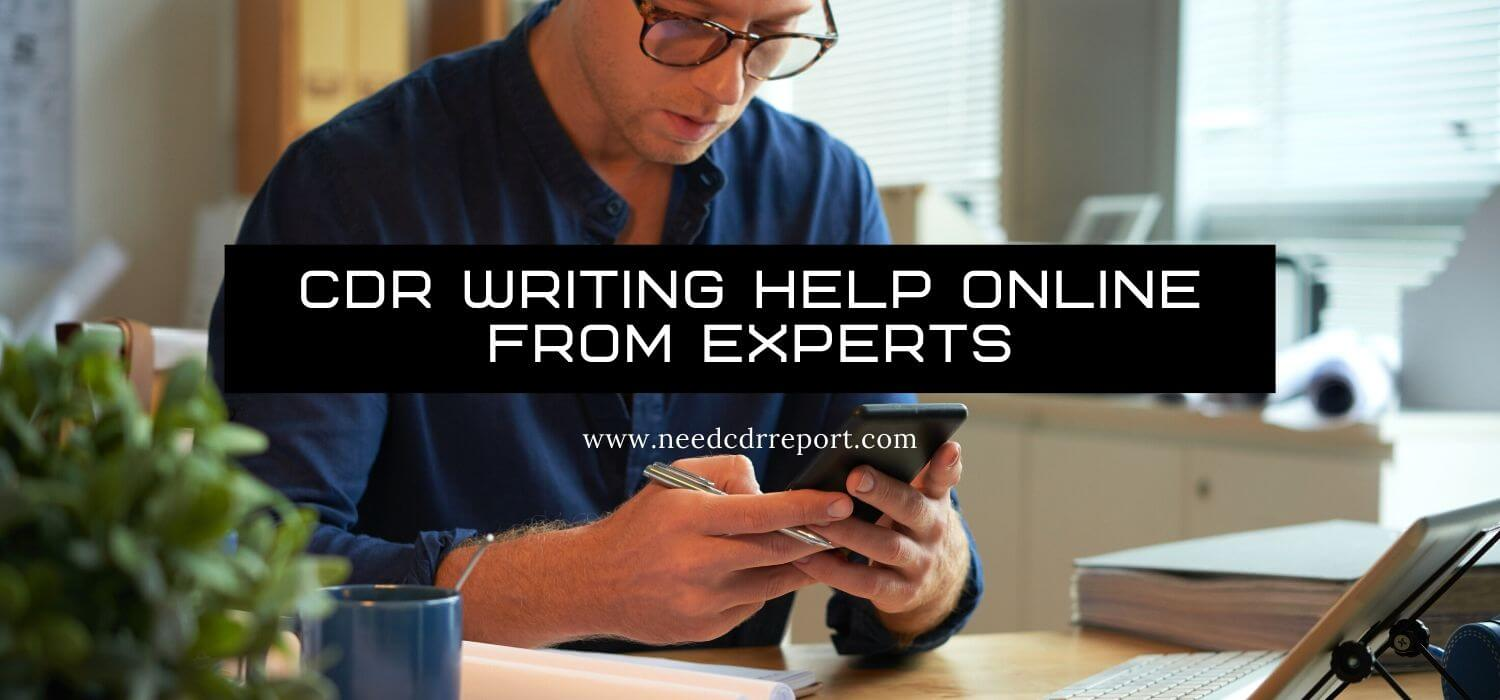 CDR Writing Help Online from Experts