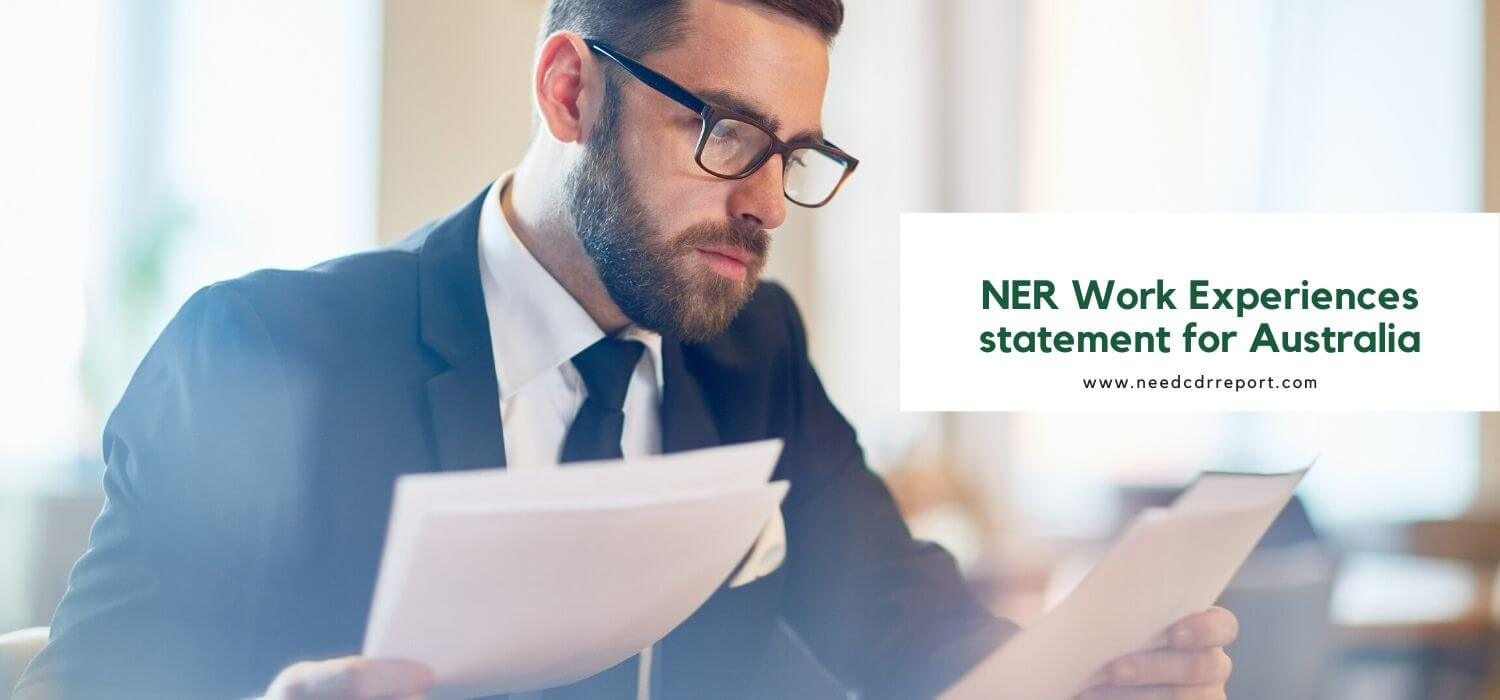 NER Work Experiences statement for Australia